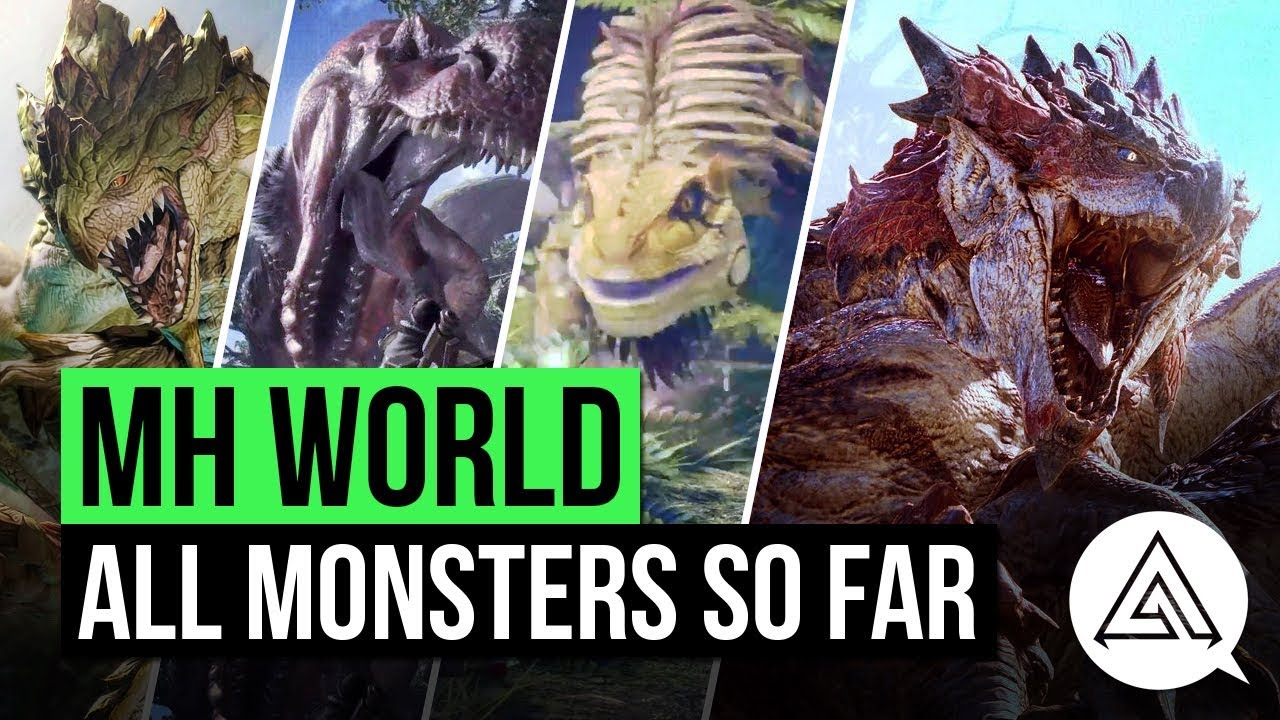 Monster hunter world all monsters so far monster list for Decoration list monster hunter world
