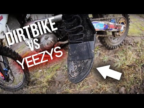 RIDING A DIRTBIKE IN YEEZYS!