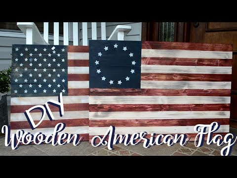 DIY Wooden 4th of July Flag / How To Make Wooden Flag