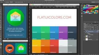 Уроки Photoshop - Как нарисовать иконку в стиле флэт  - часть 3. Где найти цвета?