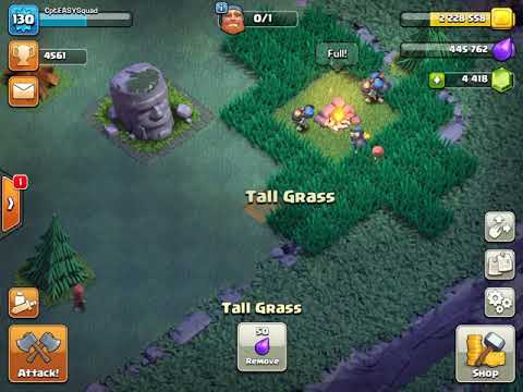 Cut grass with decorations - Clash of Clans