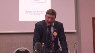 Paul Girvan UKIP Northern Ireland Local Council Elections Campaign launch 2019