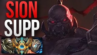 SION IS THE BEST SUPPORT IN PATCH 8.16?! | CHALLENGER SION SUPPORT GAMEPLAY | Patch 8.16 S8