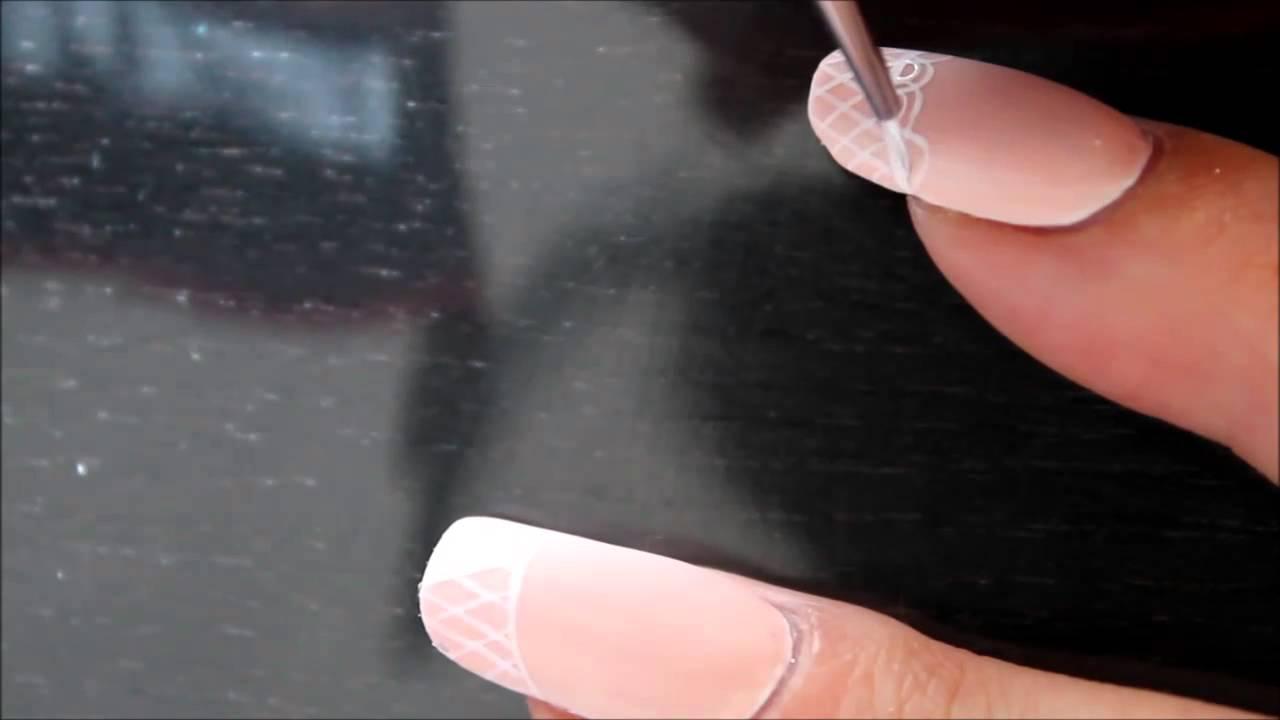Comment Peindre De La Dentelle nail art dentelle et résille