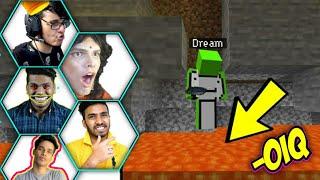 Gamers -0iq moments in Minecraft 🔴 techno gamerz, bbs, Live Insaan, mythpat, gamerfleet, Albedo op