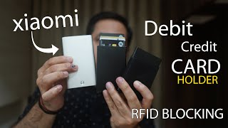 Xiaomi Credit Debit Card Holder, other Card holder with RFID blocking from Rs. 250 onwards
