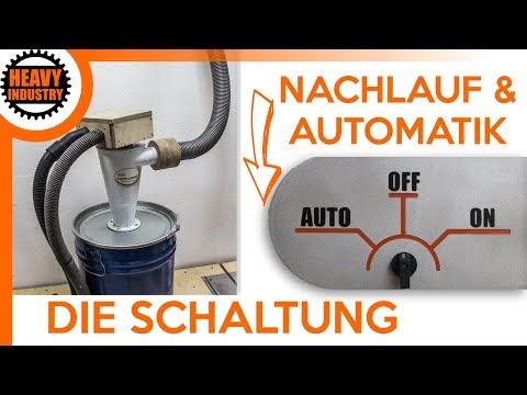 (2/2) Absauganlage selber bauen | DIE SCHALTUNG im DETAIL (Einschaltautomatik und Nachlauf)