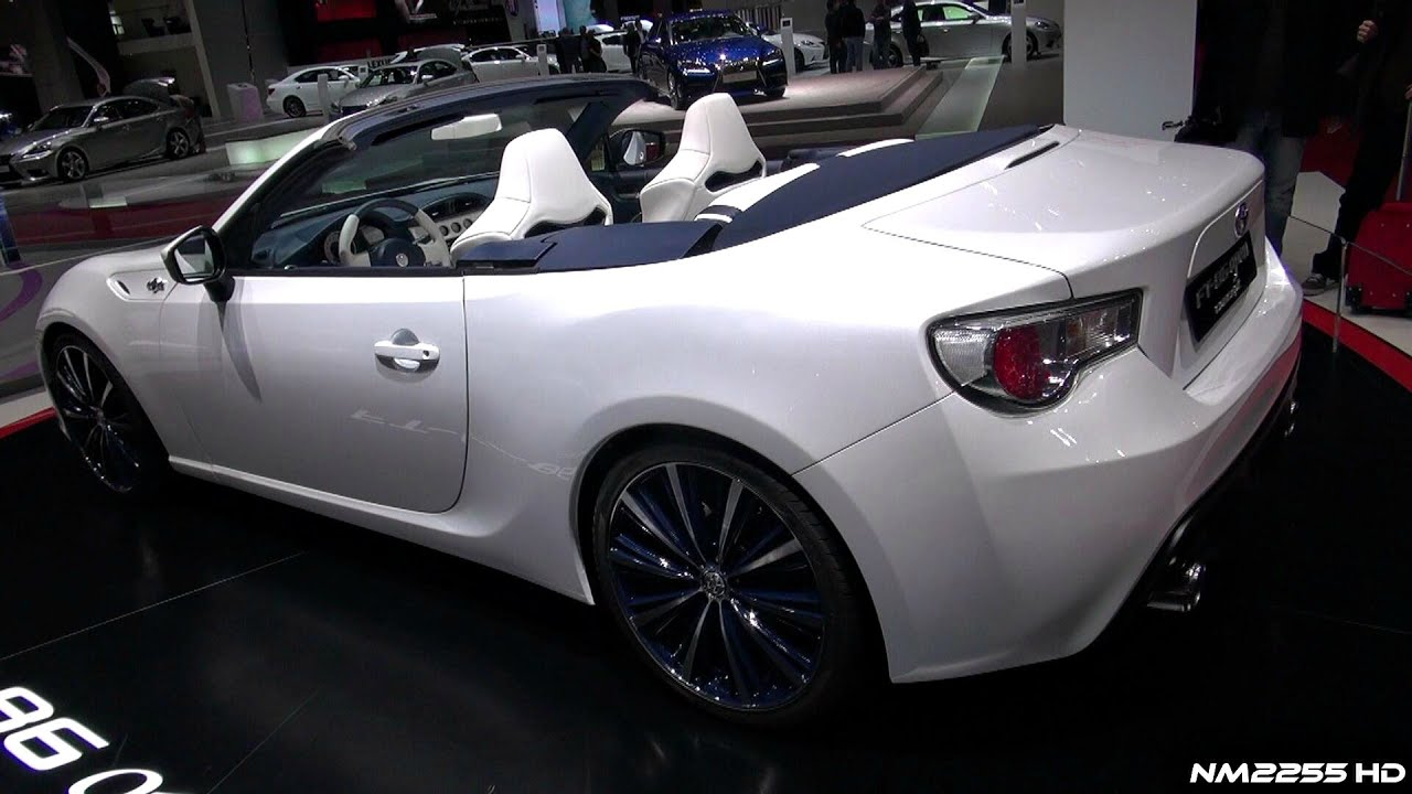 Toyota Ft 86 >> 2014 Toyota FT-86 Open Convertible First Look - 2013 Geneva Motor Show - YouTube