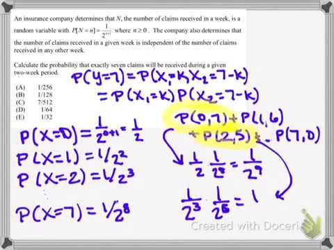 Prob Stat Actuarial P Exam Sample Questions YouTube