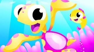 OCEAN ADVENTURE | Sea Turtles, Fish friends, Baby Shark | Just Keep Swimming Dory by Little Angel