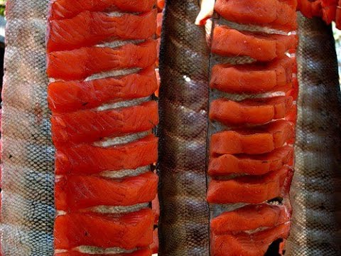 Юкола, из красной рыбы. Вяленая рыба! Jukola, of the red fish. Dried fish!