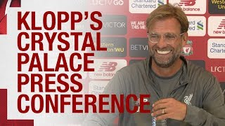 Jürgen Klopp's pre-Palace press conference | Mane, the defence and more