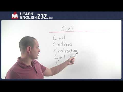 Learn English vocabulary words and Definitions - Lesson 17 - Civil