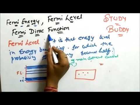 Fermi Energy , Fermi Level , Fermi Dirac Function