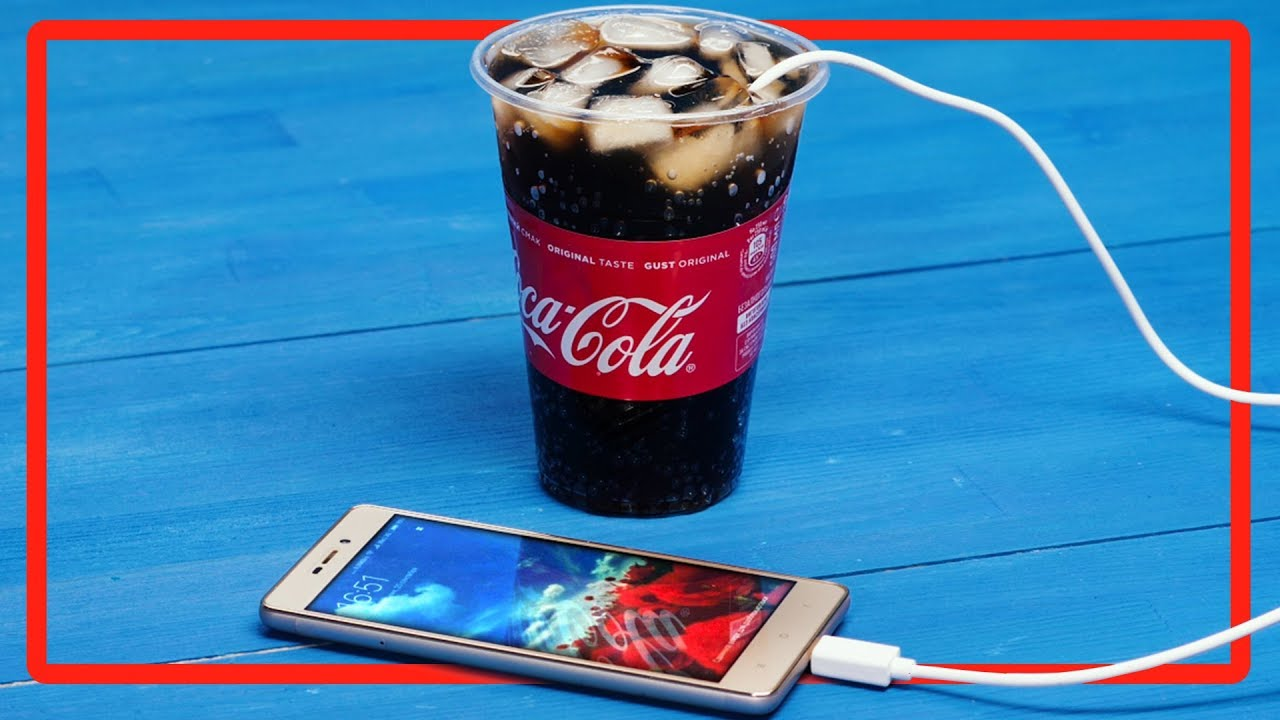 school pranks how to charge a mobile phone using coca cola tips and tricks youtube. Black Bedroom Furniture Sets. Home Design Ideas