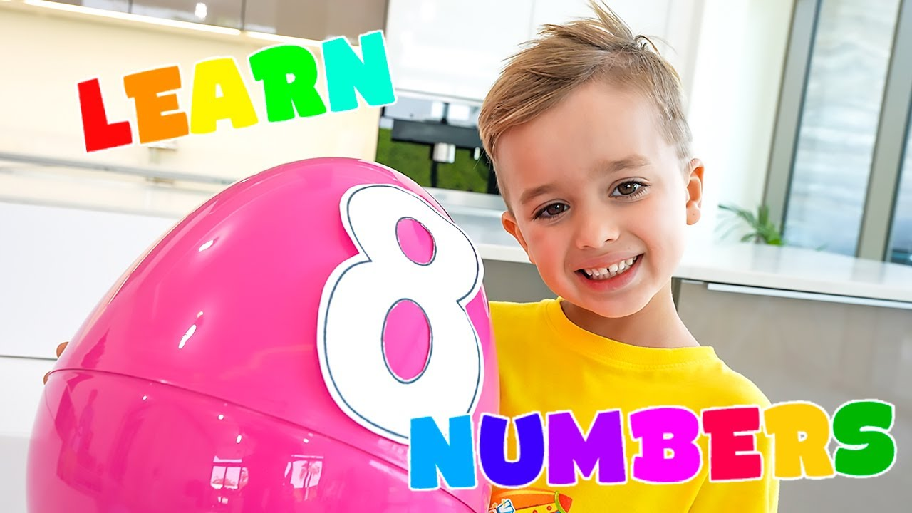 Vlad & Niki ve bebek Chris ile 1-10 arası sayıları öğrenin