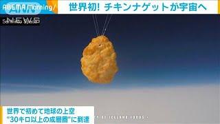 世界初!チキンナゲットが宇宙へ 88万個分の上空に(2020年10月15日) - YouTube