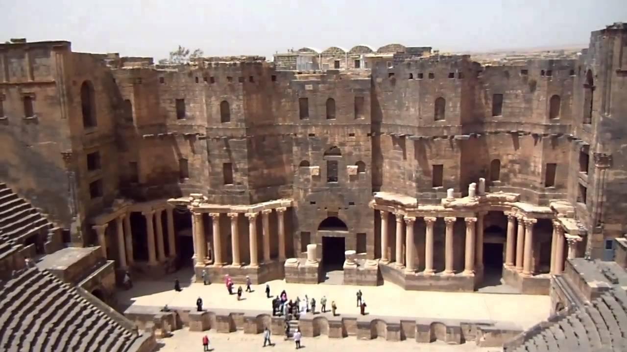 Siria Bosra teatro romano - YouTube