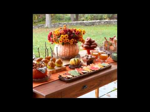 Fall party centerpiece decorating ideas
