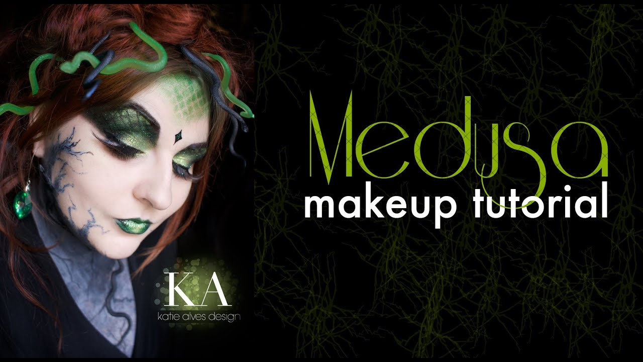 Medusa Halloween Makeup Tutorial - YouTube