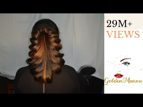 Latest Hairstyle For Parties| GoldenMannu