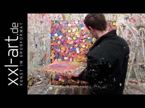 Xxl Art abstract painting demoalexander zerr xxl-art.de #561 - youtube