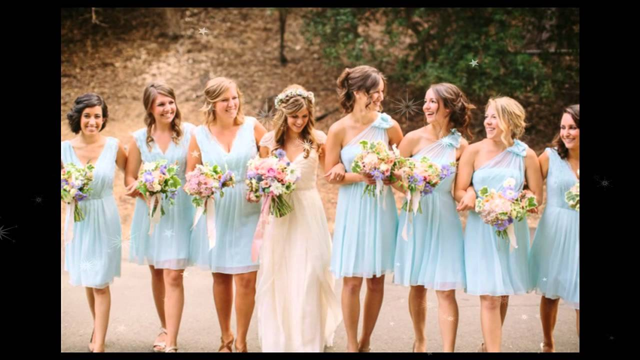 2015 Baby Blue Bridesmaid Dresses Collection - YouTube