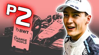 George Russell Qualifies P2 @ the Belgian Grand Prix (LIVE REACTION)