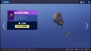 *NEW* Six String Striker Pickaxe Sound (Fortnite Battle Royale)