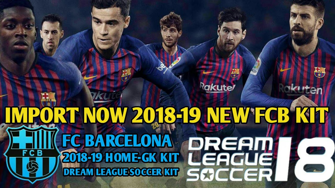 Create FC Barcelona Team Kit & Logo In Dream League Soccer 2018