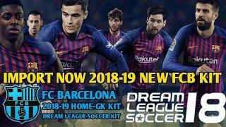 Create fc barcelona team kit & logo in dream league soccer 2018