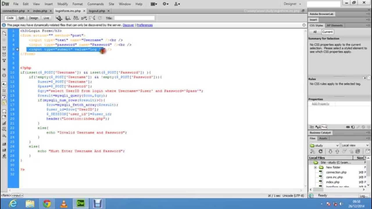 PHP login form tutorial easy to learn using mysql, php ...