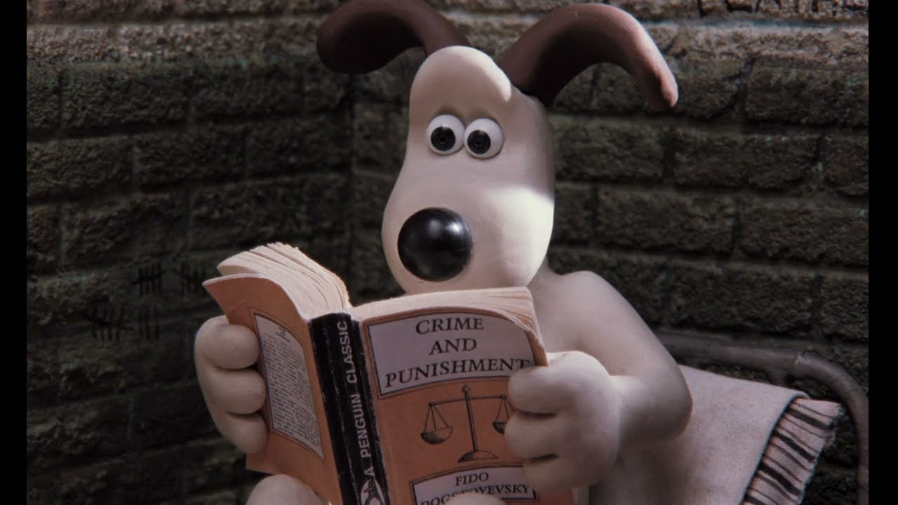"""Download The Shawshank Redemtion reference, Gromit reading """"Crime and Punishment"""" scene in A Close Shave"""