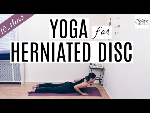 10 Min Yoga Routine for Herniated Disc | Yoga for Low Back Pain Relief | ChriskaYoga