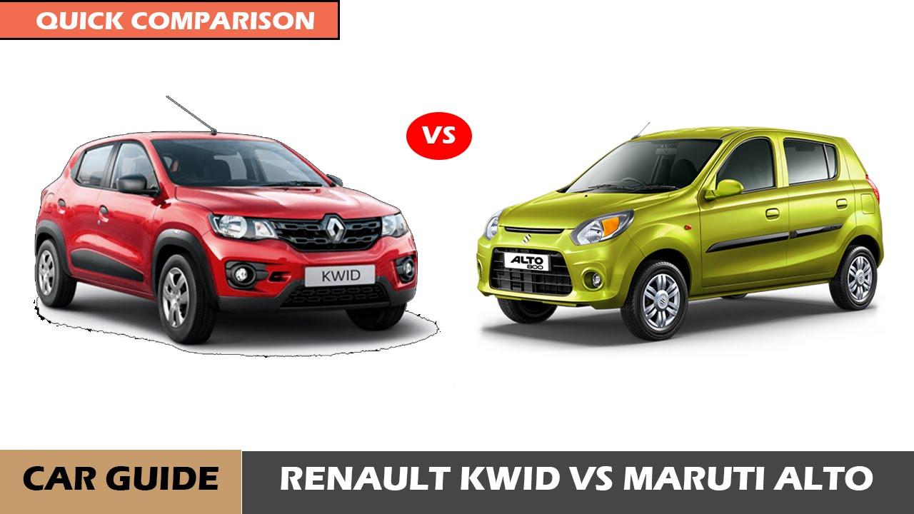 Maruti Alto 800 Vs Renault Kwid Std Full Comparison And Reviews