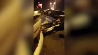 Около 40 автомобилей столкнулись на дороге в аэропорт Махачкалы