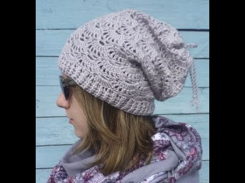 How To Crochet Autumn Shell Hat Free Pattern Youtube