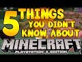 5 Things You Didn't Know About Minecraft PS3 Edition