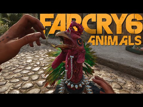 Far Cry 6 - Interacting with Animals - 4K 60 FPS Gameplay