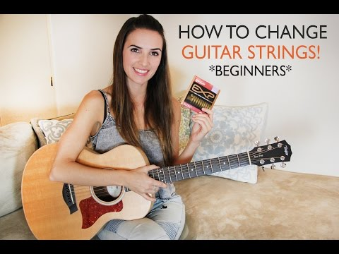 How To Change Your Acoustic Guitar Strings (Easy / Full Explanation / Beginners!)