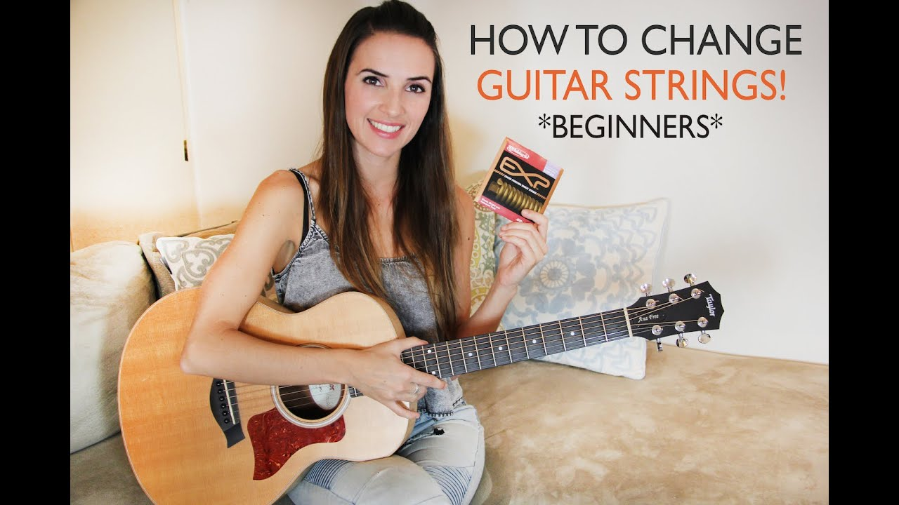 how to change your acoustic guitar strings easy full explanation beginners youtube. Black Bedroom Furniture Sets. Home Design Ideas