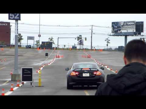 Jaguar XKR-S 550 HP 0-60 acceleration run