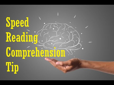Speed Reading Tutorial: Comprehension Tip