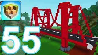 Block Craft 3D: City Building Simulator - Gameplay Walkthrough Part 55 - Golden Gate Bridge (iOS)