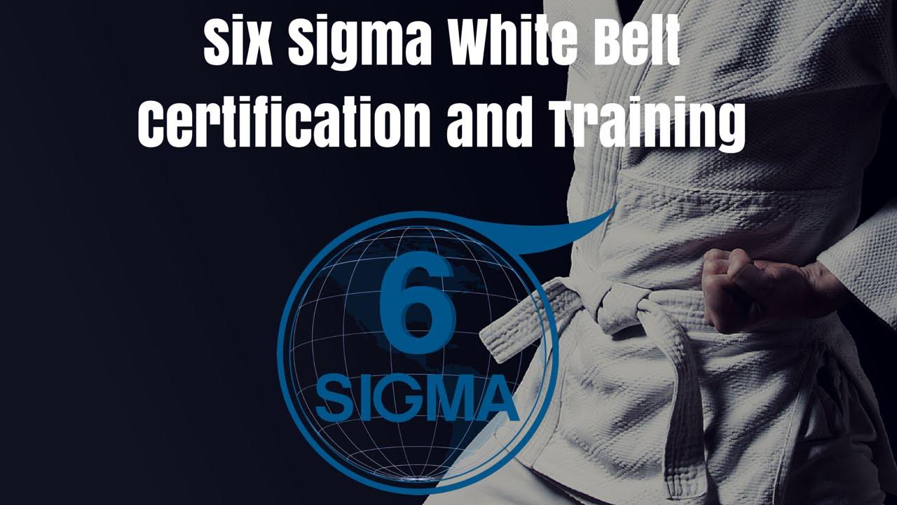 Six Sigma White Belt Training Courses And Six Sigma White Belt
