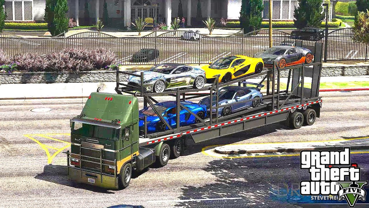 GTA 5 REAL LIFE MOD #372 CARS DELIVERY !!! (GTA 5 REAL
