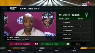Larry Drew says Cleveland has to learn how to play through ups and downs | CAVS-BUCKS POSTGAME