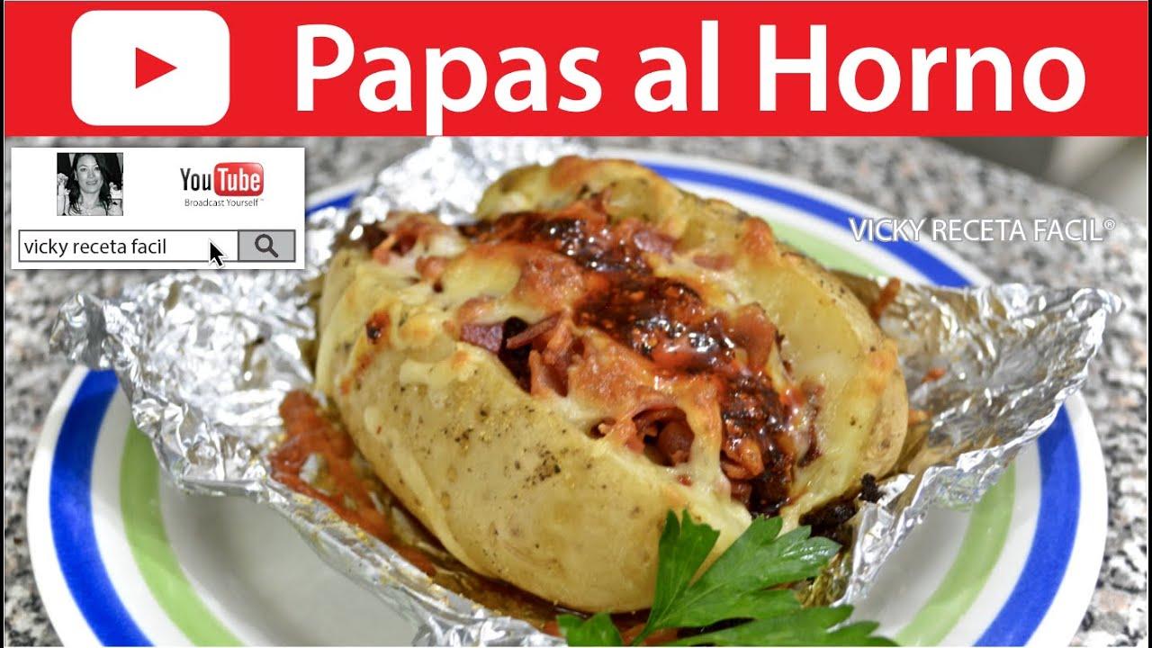 Papas al horno vicky receta facil youtube - Receta bogavante al horno ...