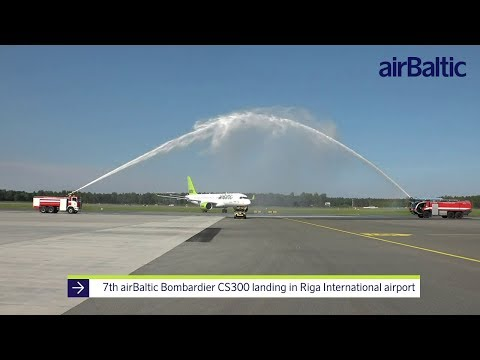 AirBaltic Welcomes 7th CS300 In Riga