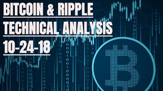 Bitcoin $BTC and Ripple $XRP Technical Analysis for 10-24-18